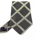 Men's New Bill Burns New York 100% Silk Black Gold Tie NWOT Necktie BL060