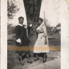 Vintage African American Photo Pretty Women Posing By Tree Old Black Americana