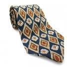 FIERTE SRL Men's New 100% Silk Tie Blue Brown White NWOT Necktie Ties BL0168