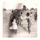 1940-50s Vintage African-American Mother on Field w/Children Photo Black People