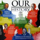 Our History 18x24 African American Poster Famous Black People w/ Short Biography