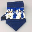 Men's New Guy Buffet Collection 100% Silk Tie Blue Chef NWOT Necktie Ties ST033