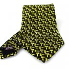 Men's New Museum Artifacts 100% Silk Black Yellow Gavel Tie NWOT Necktie BL064