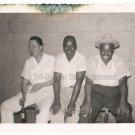1960s Vintage Older African American White Black Men Friends Photo Smile People