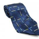 Men's New 100% ASIAN Silk Tie Blue Yellow NWOT Necktie Ties BL0163