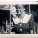 1940s Vintage Smiling African-American Woman Photo Dress Black People Americana