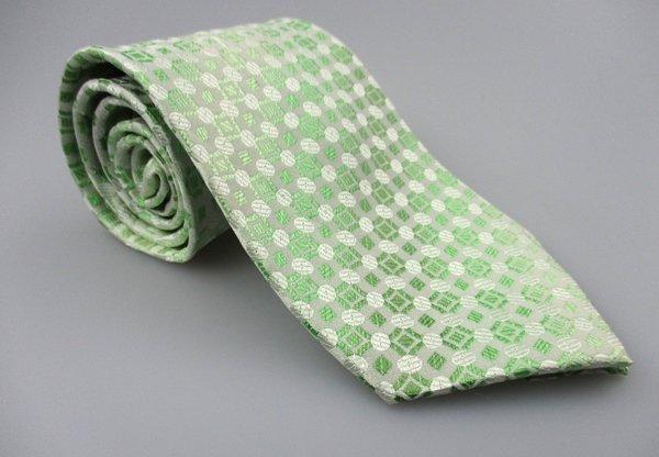 Men's New RENOMA Paris Silk Tie Green White NWOT Necktie Ties GR0111