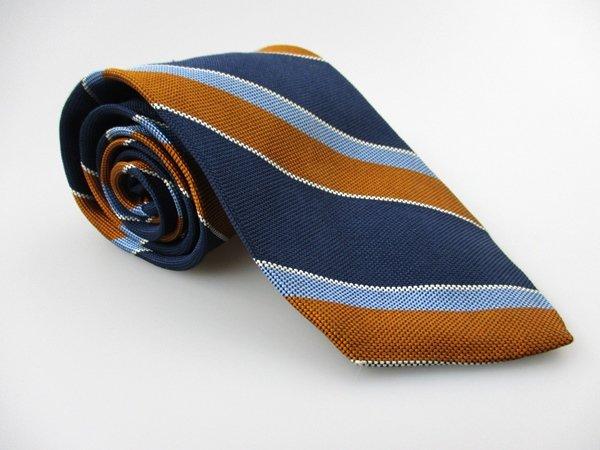 Men's New LANDS END 100% Silk Tie Blue Brown NWOT Necktie Ties BL0127