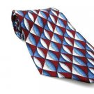 STAFFORD EXECUTIVE Men's New 100% Silk Tie Blue White NWOT Necktie Ties BL0170