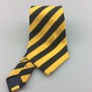 Men's Covona Walton Design Tie Gold & Black Stripe Classic Necktie Ties Y008