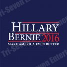 Hillary Clinton Bernie Sanders Presidential Campaign Poster 2016 New 18x24 Blue