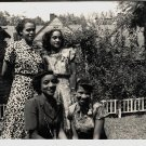 Vintage African American Photo Gorgeous Women Posing Pretty Old Black Americana