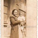1930s Antique Pretty African American Woman Holding Baby Photo Black Americana