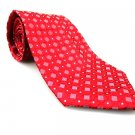 IZOD Men's New Tie Red Geometric NWOT Necktie Ties R0197
