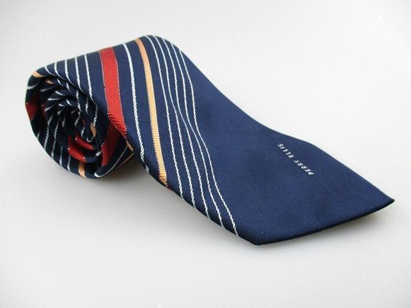 Men's New PERRY ELLIS 100% Silk Tie Blue Red NWOT Necktie Ties BL0128