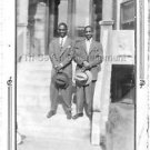 1940s Vintage 2 Handsome African-American Men in Suits Hats Photo Black People