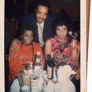 1970s Vintage Handsome African-American Man w/Ladies Photo Black People Color US