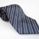 Men's New CROFT & BARROW 100% Silk Tie Blue Stripes NWOT Necktie Ties BL0138