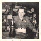 1940s-1950s Vintage African-American Mulatto Woman Bartender Photo Black People