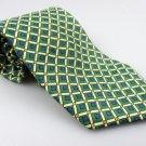 Men's New LT DESIGNS MILANO 100% Silk Tie Green Yellow NWOT Necktie Ties GR0102