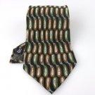 Men's New Alexander Lloyd 100% Silk Black Green Brown Tie NWOT Necktie BL059
