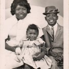 Vintage Happy African-American Family Real Photo Postcard RPPC Black Americana