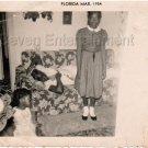 1954 Vintage Cute African-American Girl Pretty Dress Old Photo Black Americana