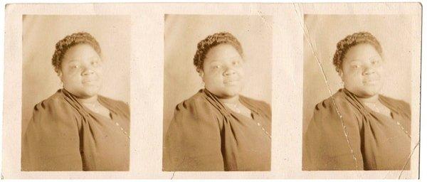 Vintage African American Photo Cute Woman Short Hair Old Black Americana