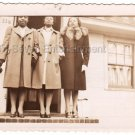 1940s African American Pretty Girls Coat Diva Old Vintage Photo Black Americana