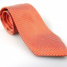 Men's New Geoffrey Beene 100% Silk Orange Circles Tie NWOT Necktie OR065