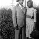 Vintage African American Photo Pretty Woman Man Women Couple Old Black Americana