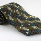 Men's New CHEZ ROFFE 100% Silk Tie Green Brown NWOT Necktie Ties GR0107