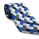 GEOFFREY BEENE Men's New 100% Silk Tie Blue Black Gray NWOT Necktie Ties BL0176