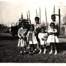 Vintage African American Photo Cute Group of Children Kids Old Black Americana