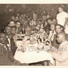 1940s African-American Big Group Celebration Old Photo Black Americana People