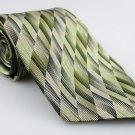 Men's New JOSEPH & FEISS 100% Silk Tie Olive Green NWOT Necktie Ties GR0103