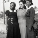 Vintage African American Photo Pretty Woman in Dresses Women Old Black Americana