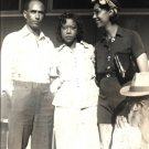 Vintage African American Photo Man Women Family Group Women Old Black Americana
