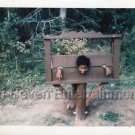 1970s Vintage African-American Boy w/Afro Photo Smiling Black People Color USA