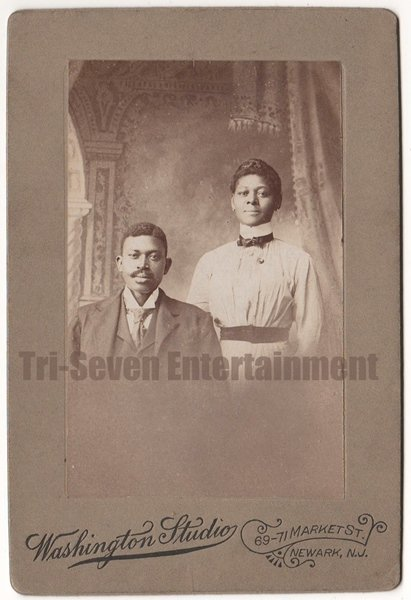 Antique African American Cabinet Card Old Photo Married Couple Black Americana