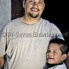 Father & Son Photo 8x10 New Matte Color Spanish Hispanic Children Mexican Family