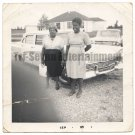Vintage African American Photo Lovely Women in Front of Car Old Black Americana