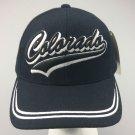 New Baseball Cap COLORADO State Curved Black Blue Adjustable Velcro Men's Hat