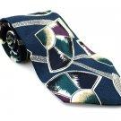 FERRACCI Men's New 100% Silk Tie Blue Teal Purple NWOT Necktie Ties BL0173