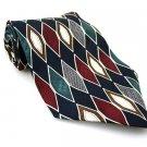 WEMBLEY Men's New 100% Silk Tie Burgundy Teal NWOT Necktie Ties BL0162
