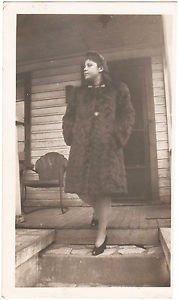 Vintage African American Photo Pretty Woman Fur Coat People Old Black Americana