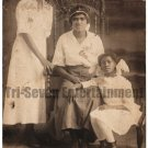Antique African American Family Old Real Photo Postcard RPPC Black Americana