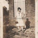 1930s Stylish African-American Biracial Woman w/ Black Hat Photo Black People