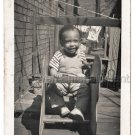 50s Vintage African American Cute Young Little Boy Old Photo Black Children Kids