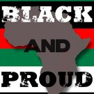Black And Proud 18x24 Poster in Africa Colors Black Red Green African American